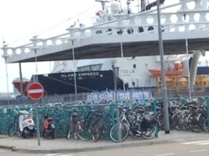 ....and lots more bikes are left at the mainland dock by ferry riders